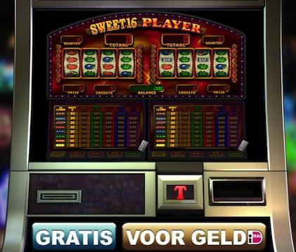 Hier kunt u een van de fruitkasten genaamd Sweet16 Player spelen. Dit is een gokspel van TopGambler.