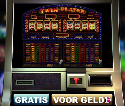 Hier kunt u een van de fruitkasten genaamd Twin Player spelen. Dit is een gokspel van TopGambler.